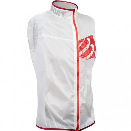 Chaleco Compressport Trail Hurrican Vest Blanco