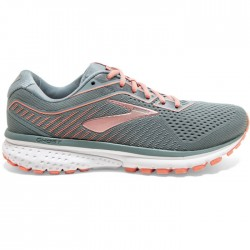 Zapatillas Brooks Ghost 12 Mujer Gris Rosa