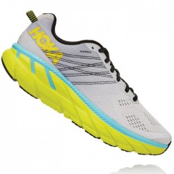 Zapatillas Hoka Clifton 6 Gris Amarillo