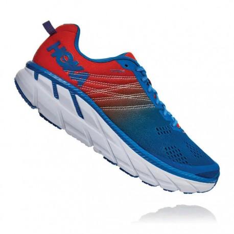 Zapatillas Hoka Clifton 6 Rojo Azul