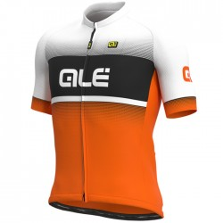 Maillot ciclismo Alé corto Solid Blend Blanco Naranja