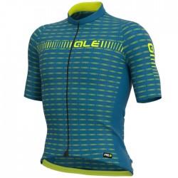 Maillot ciclismo Alé corto PRR Green Road Azul Amarillo