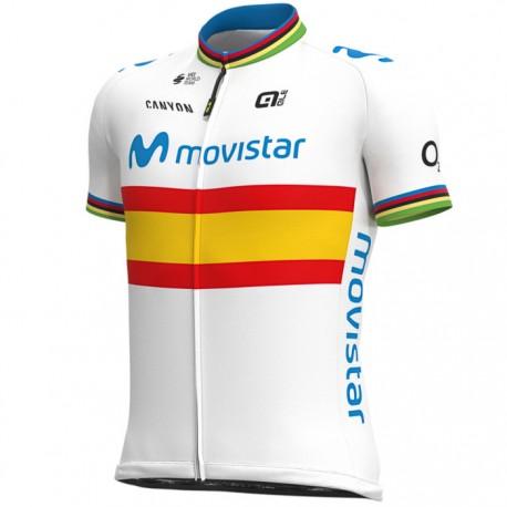Maillot ciclismo Alé corto Movistar Team 2020 Campeón España
