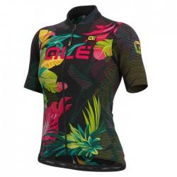 Maillot ciclismo mujer Alé corto Solid Tropika Negro
