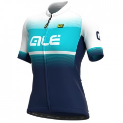 Maillot ciclismo mujer Alé corto Solid Blend Azul