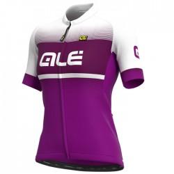 Maillot ciclismo mujer Alé corto Solid Blend Violeta