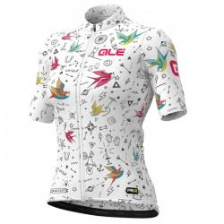 Maillot ciclismo mujer Alé corto PRR Versilia Blanco