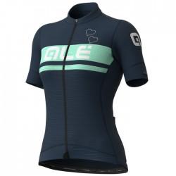 Maillot ciclismo mujer Alé corto PRS Crystal Azul
