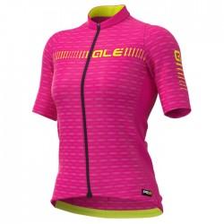 Maillot ciclismo mujer Alé corto PRR Green Road Rosa