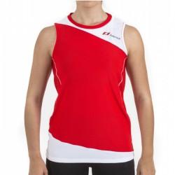 Camiseta Land Sensitive Mujer Rojo Blanco