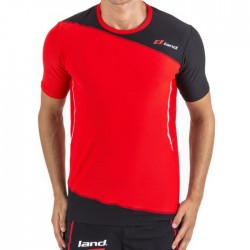 Camiseta Land Respect Rojo y Negro