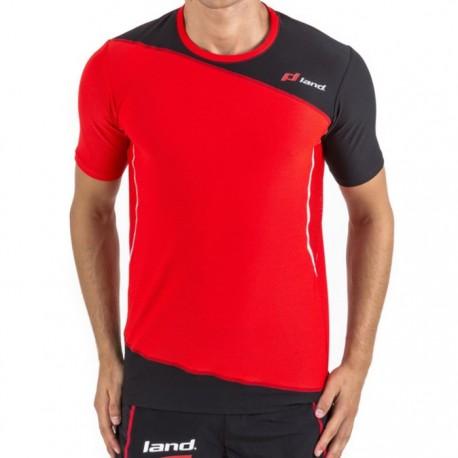 Camiseta Land Respect Rojo y Negro