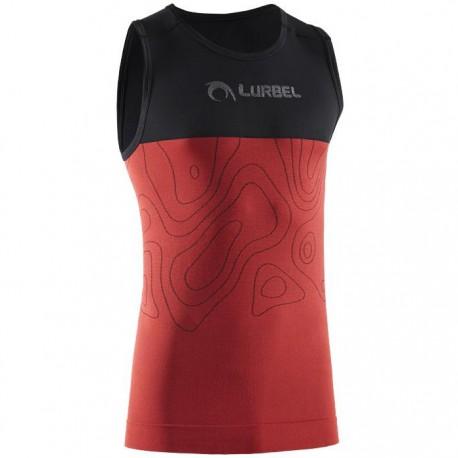 Camiseta Lurbel Samba Singlet Negro Rojo