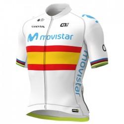 Maillot ciclismo Alé corto PRR Movistar Team 2020 Campeón España