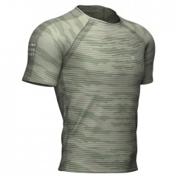 Camiseta Compressport Training Camo Gris