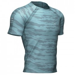 Camiseta Compressport Training Azul Nilo