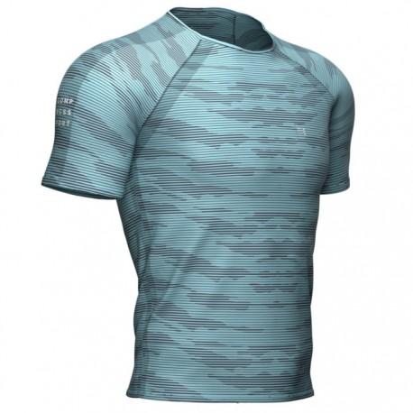 Camiseta Compressport Training Azul Nilo