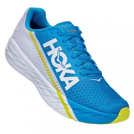Zapatillas Hoka Rocket X Azul Blanco