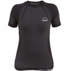 Camiseta Land Air Lady negro y gris