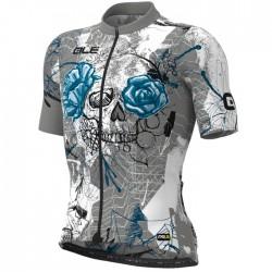 Maillot ciclismo Alé PRR Skull Gris Azul