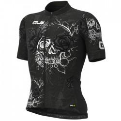 Maillot ciclismo Alé PRR Skull Negro Blanco