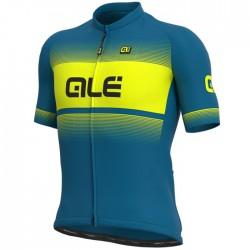 Maillot ciclismo Alé corto Solid Blend Azul Amarillo