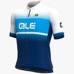Maillot ciclismo Alé corto Solid Blend Azul Blanco