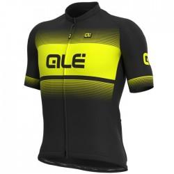 Maillot ciclismo Alé corto Solid Blend Negro Amarillo