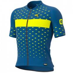 Maillot ciclismo Alé corto PRR Stars Azul Amarillo