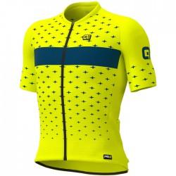 Maillot ciclismo Ale corto PRR Stars Amarillo Azul
