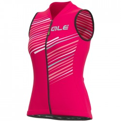 Maillot ciclismo Mujer Ale corto Solid Flash Rosa sin mangas