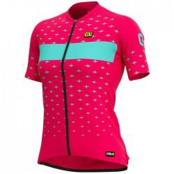 Maillot ciclismo Mujer Ale corto PRR Stars Fucsia