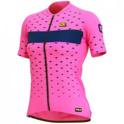 Maillot ciclismo Mujer Ale corto PRR Stars Rosa
