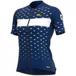 Maillot ciclismo Mujer Ale corto PRR Stars Azul