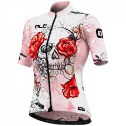 Maillot ciclismo Mujer Ale corto PRR Skull Rosa