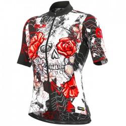 Maillot ciclismo Mujer Ale corto PRR Skull Negro Rojo