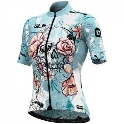 Maillot ciclismo Mujer Ale corto PRR Skull Azul