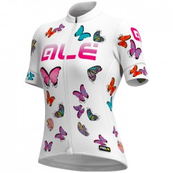 Maillot ciclismo Mujer Ale corto PRR Butterfly Blanco
