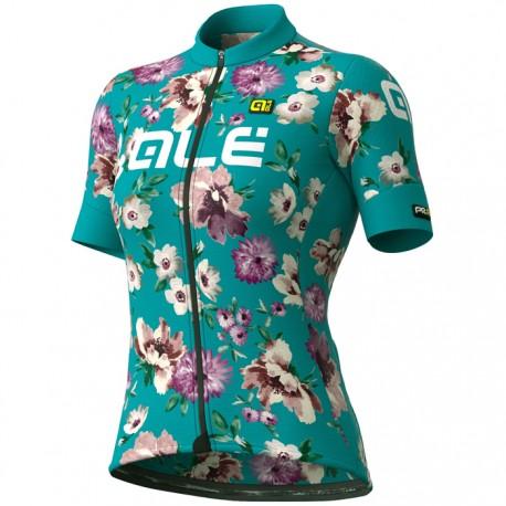Maillot ciclismo Mujer Ale corto PRR Fiori Verde