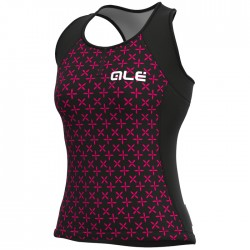 Maillot ciclismo mujer Alé Solid Helios Negro Rosa