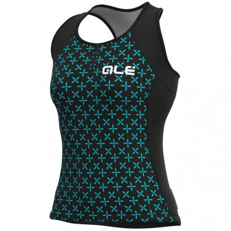Maillot ciclismo mujer Alé Solid Helios Negro Verde