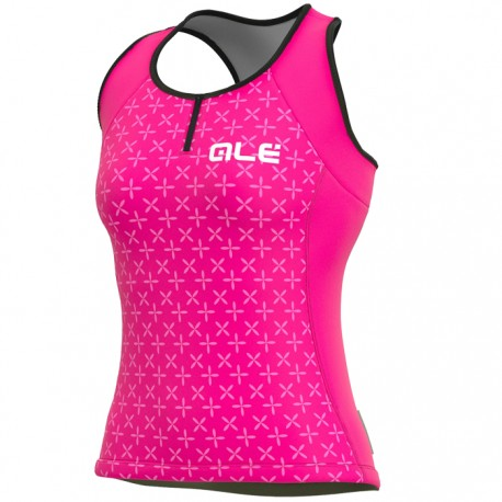 Maillot ciclismo mujer Alé Solid Helios Rosa