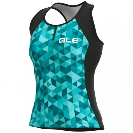 Maillot ciclismo mujer Alé Solid Triangle turquesa