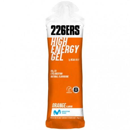 Gel Energético Isotónico 226ERS Naranja con ciclodextrina y un alto aporte de hidratos de carbono.