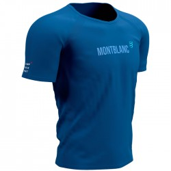 Camiseta COMPRESSPORT Mont Blanc 2021 Azul