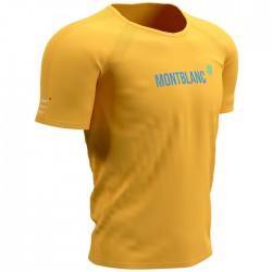Camiseta COMPRESSPORT Mont Blanc 2021 Amarillo