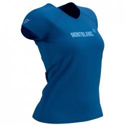 Camiseta COMPRESSPORT Mont Blanc 2021 Azul Mujer