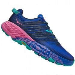 Zapatillas Hoka Speedgoat 4 Mujer Azul Rosa